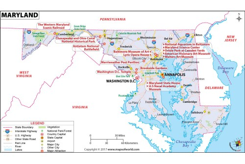 Reference Map of Maryland