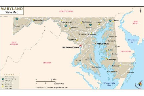 Maryland State Map