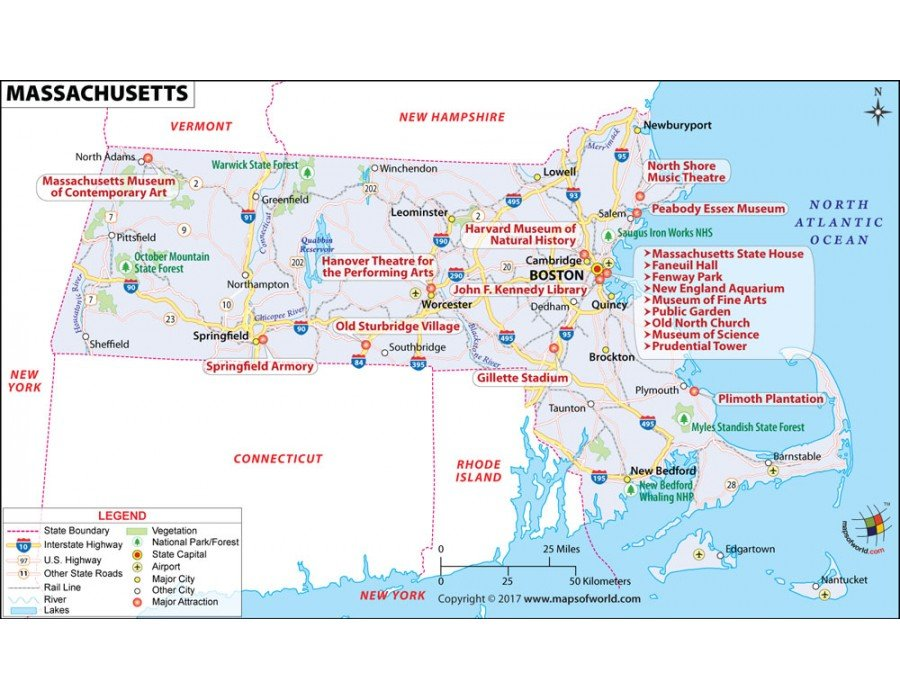 Buy Map Of Massachusetts In Raster And Vector File Format