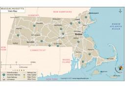 Massachusetts State Map - Digital File