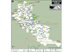 Mesquite City Map, Texas