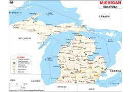 Michigan Road Map - Digital File
