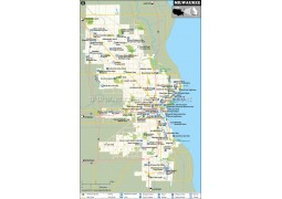 Milwaukee City Map, Wisconsin - Digital File
