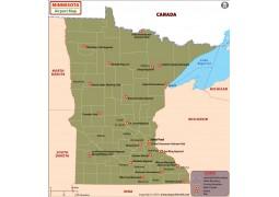 Minnesota Airports Map - Digital File
