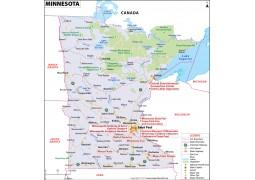 Map of Minnesota - Digital File