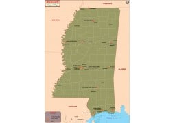 Mississippi Airports Map