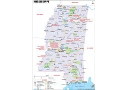 Reference Map of Mississippi