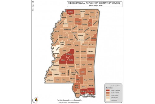 Mississippi Population Estimate By County 2016 Map