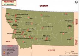 Montana Airports Map
