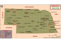Nebraska Airports Map