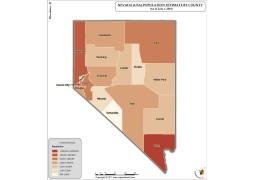 Nevada Population Estimate By County 2016 Map - Digital File