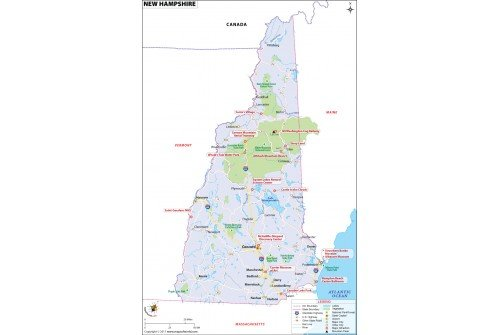Reference Map of New Hampshire