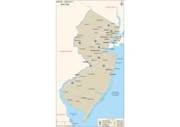 New Jersey State Map - Digital File