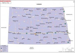 North Dakota Road Map