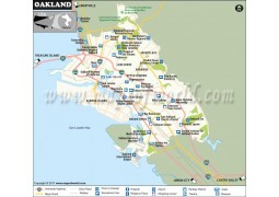 Oakland City Map, California