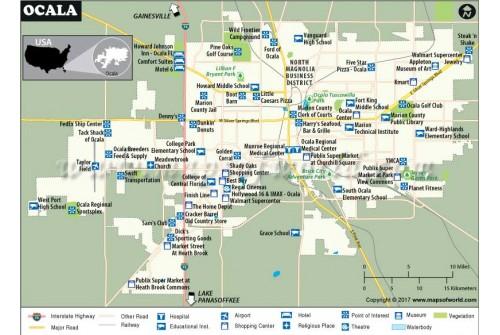 Ocala City Map, Florida