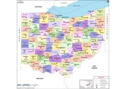 Ohio County Map  - Digital File