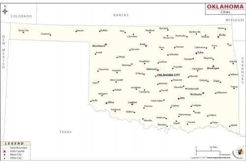 Oklahoma Cities Map