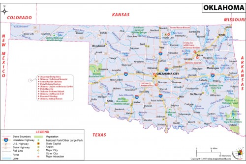 Reference Map of Oklahoma
