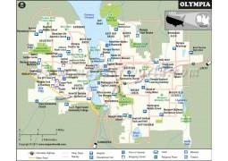 Olympia City Map, Washington