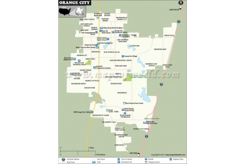 Orange City Map, Florida
