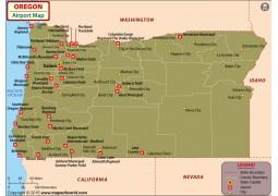 Oregon Airports Map