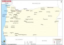 Oregon Cities Map