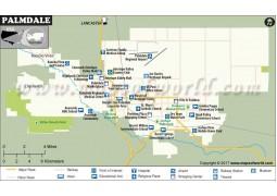 Palmdale City Map,  California