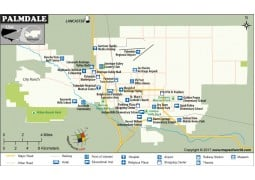 Palmdale City Map,  California