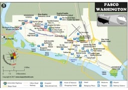 Pasco Map, Washington