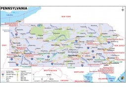 Reference Map of Pennsylvania - Digital File