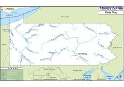 Pennsylvania River Map