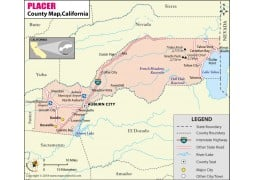 Placer County Map, California - Digital File