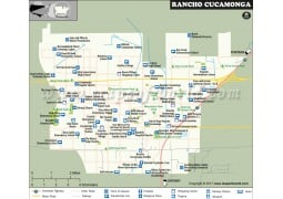 Rancho Cucamonga City Map, California