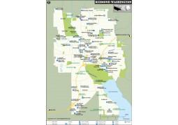 Redmond Map, Washington