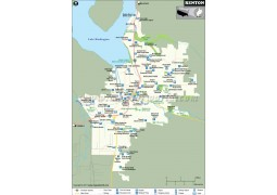 Renton City Map, Washington