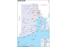 Reference Map of Rhode Island - Digital File