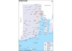 Rhode Island Map - Digital File