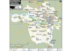 Richmond City Map, Virginia