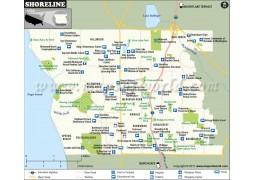 Shoreline Map, Washington