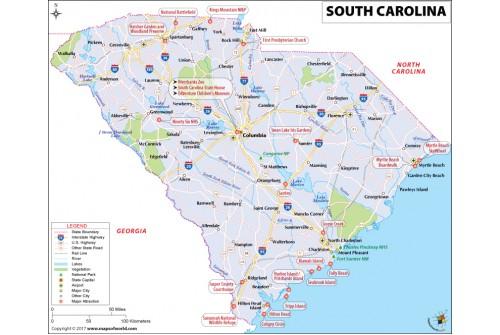 Reference Map of South Carolina