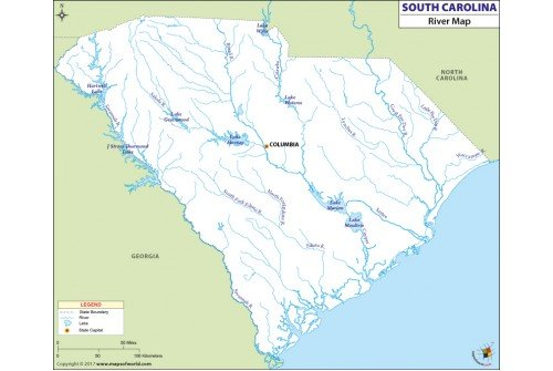 South Carolina River Map