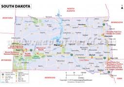 South Dakota State Map  - Digital File
