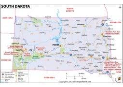 Reference Map of South Dakota - Digital File