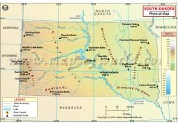 South Dakota Physical Map - Digital File