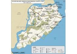 Staten Island Map (Richmond Borough) - Digital File