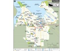 Tacoma City Map, Washington