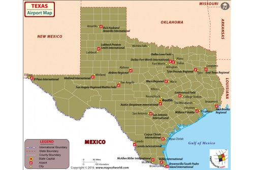 Texas Airports Map