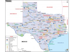 Reference Map of Texas
