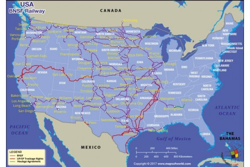 USA BNSF Railway Map